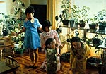 Four Children With Plants - 1980